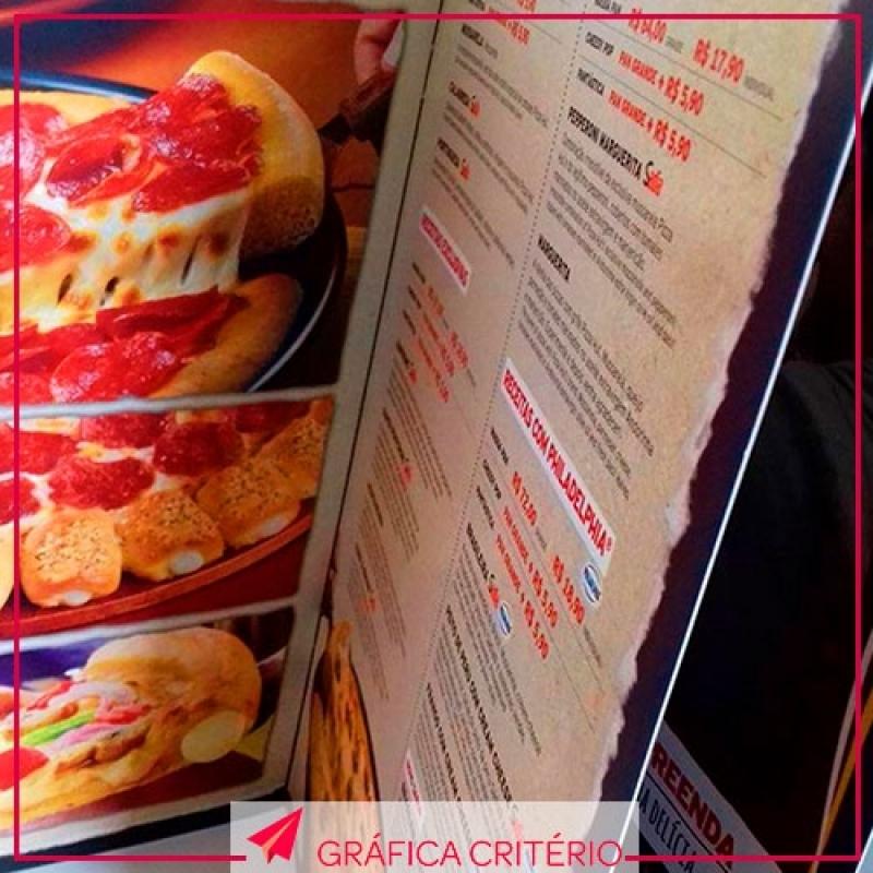 Impressão de Cardápios Conjunto Residencial Butantã - Impressão de Pastas