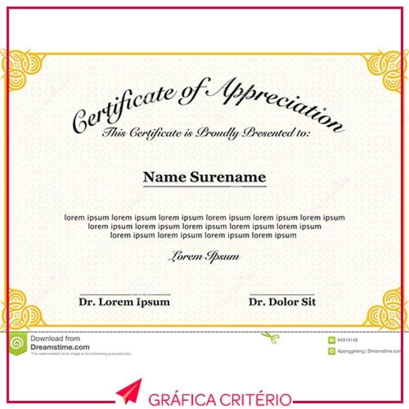 Impressão de Certificados Quanto Custa Vila Gertrudes - Impressão Monografia