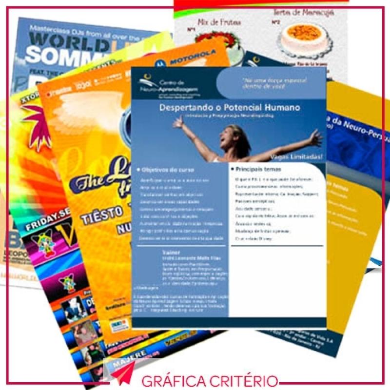 Impressão de Folders Valor Jardim Donária - Impressão de Convites