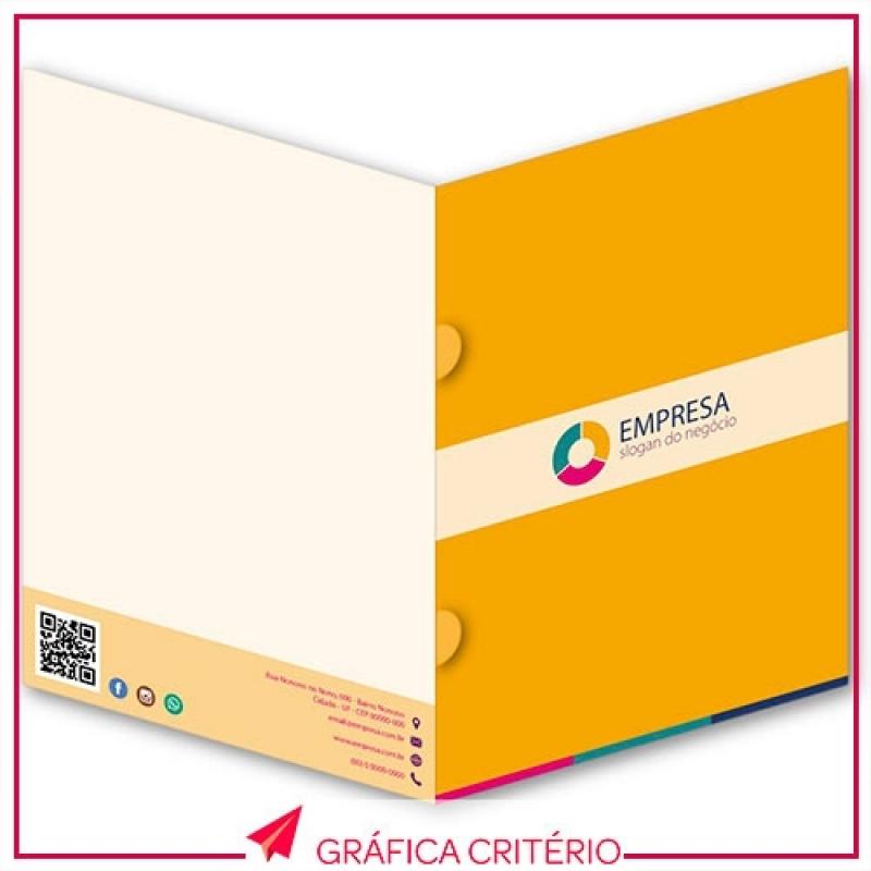 Impressão de Pastas Preço Luz - Impressão de Folders