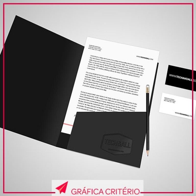 Impressão de Pastas Valor Alto de Pinheiros - Impressão de Folders