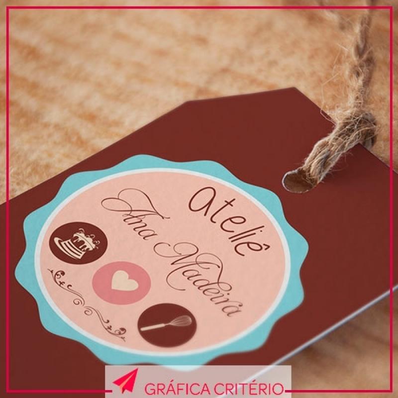 Impressão de Tags Jardim Donária - Impressão de Pastas