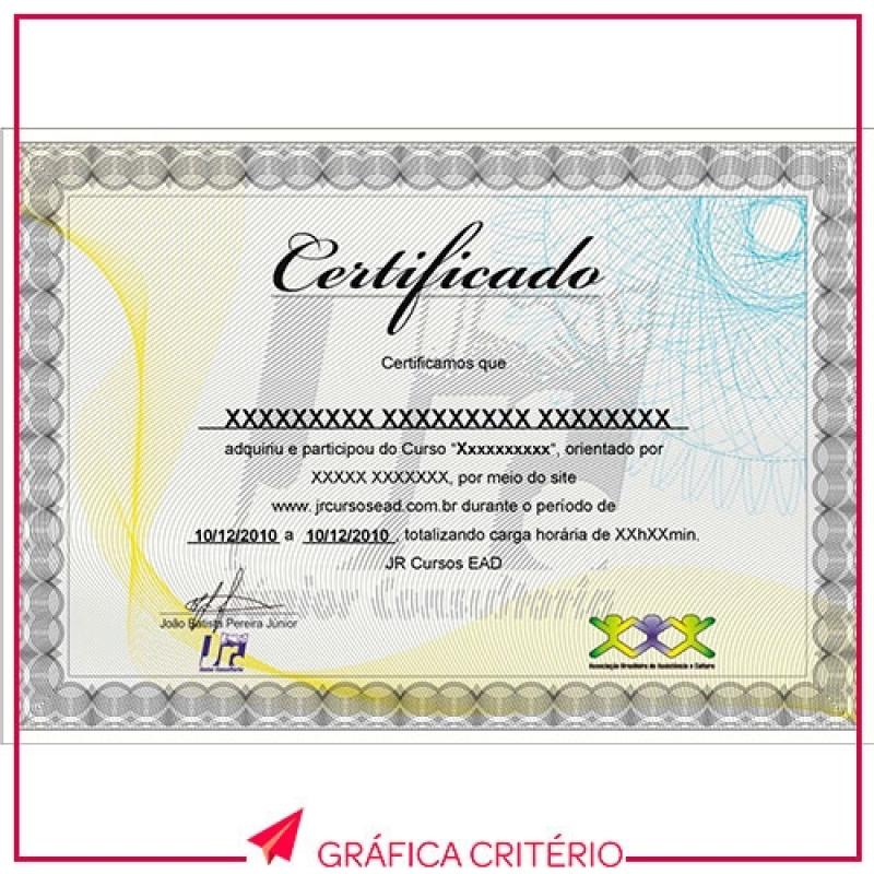 Serviço de Impressão de Certificados Santa Efigênia - Impressão e Encadernação de Capa Dura