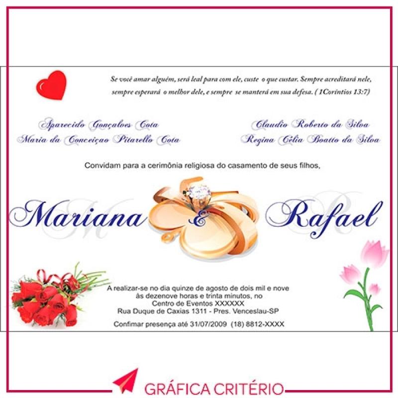 Serviço de Impressão de Convites Jardim Europa - Impressão de Convites
