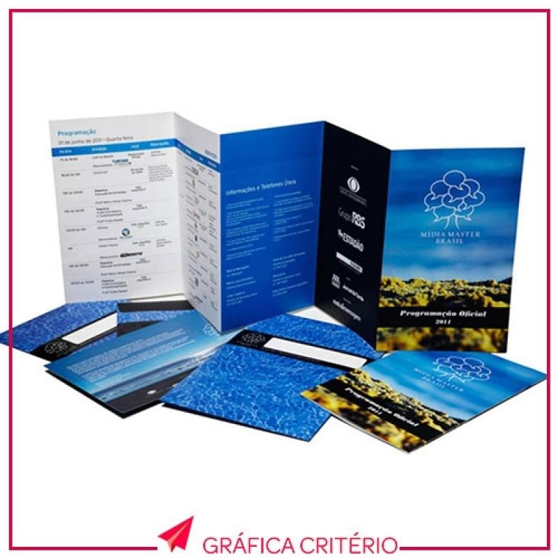 Serviço de Impressão de Folders Sé - Impressão de Cardápios