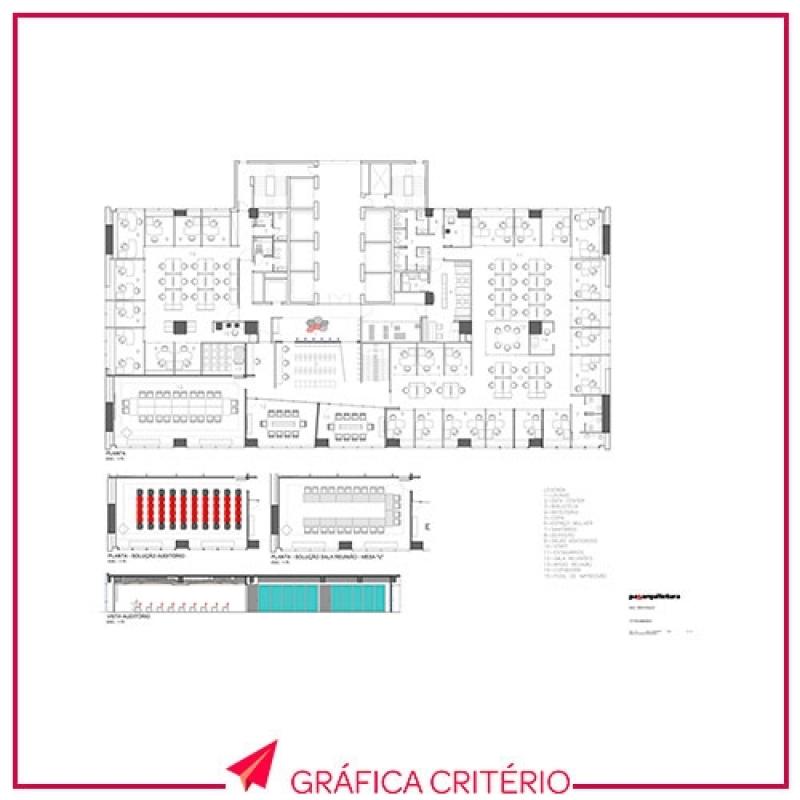 Serviço de Impressão de Plantas Centro de São Paulo - Impressão de Plantas