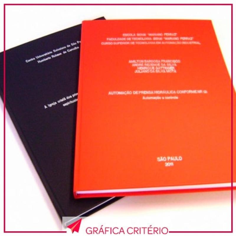 Serviço de Impressão e Encadernação de Capas Personalizadas Jardins - Impressão Monografia
