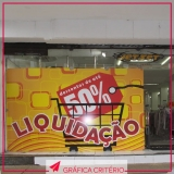 adesivos para vitrines Vila Romana