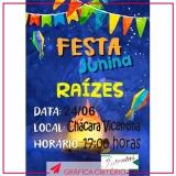 banners para festa Jardim dos Jacarandás