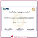 gráfica para impressão de certificados Bixiga