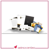 impressão de folders preço Vila Romana