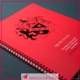 impressão e encadernação de capa dura valor Centro