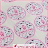impressão personalizada etiquetas adesivas Santa Cecília