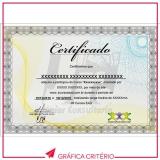 serviço de impressão de certificados Jardim Donária